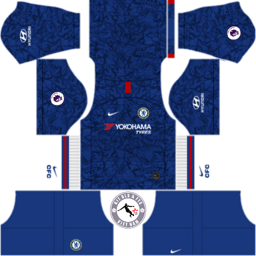 Kits Chelsea Football Club 2019 - 2020 Dream League Soccer 2019 & First Touch Soccer
