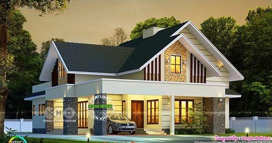 1792 sq-ft very Beautiful single floor house rendering ...