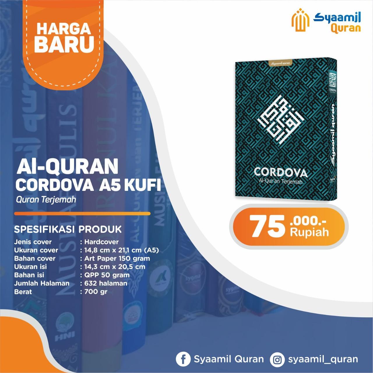 Jual Produk Syaamil Qur'an, Al-Qur'an Cordova A5 Kufi: Al-Qur'an Terjemah
