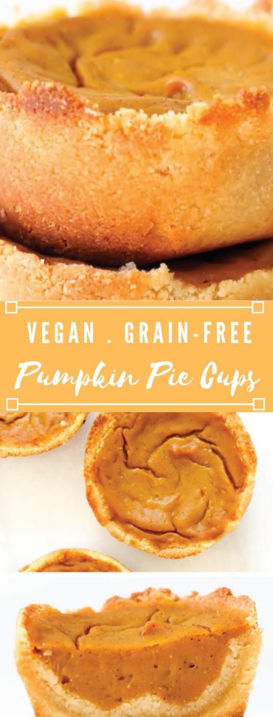 VEGAN & GRAIN-FREE PUMPKIN PIE CUPS #cake #vegan #desserts #pumpkin #pie