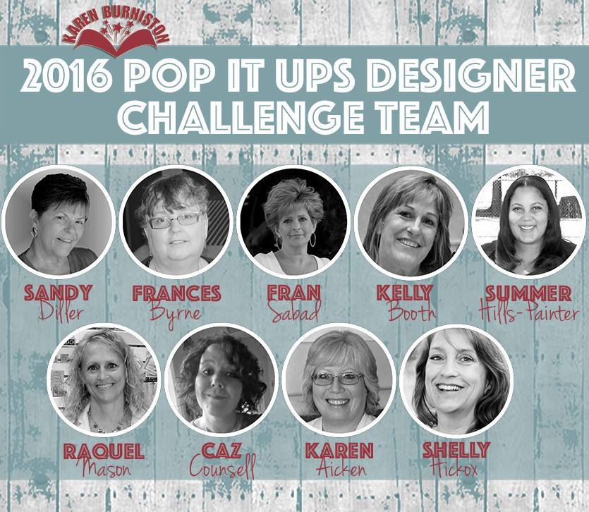 Proud member of Karen Burniston's 2016 Design Team