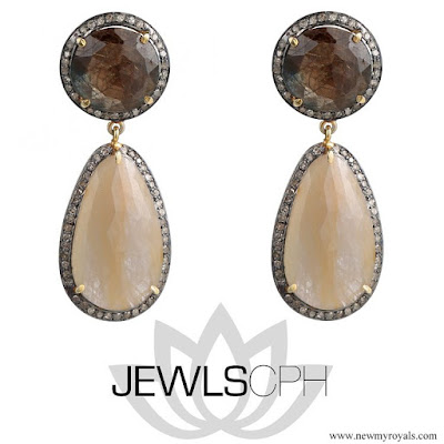 Crown Princess Mary Style JEWLSCPH Capella Unique Earrings