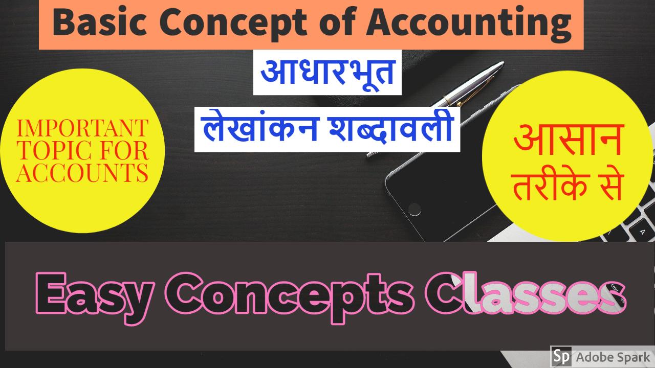 Basic Concepts of Accounting | आधारभूत लेखांकन शब्दावली  | Chapter - 2 of Class 11 | HTET -1