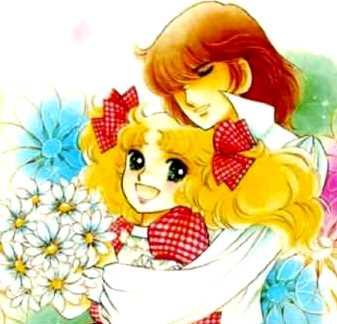 Dibujo de Candy recibiendo el abrazo de Terry