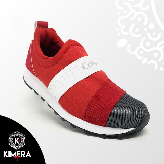 Tênis Coca Cola Coke Easy Feet Vermelho Cinza e Branco
