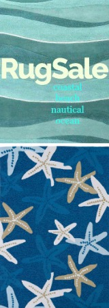 Coastal Nautical Beach Rug Sale