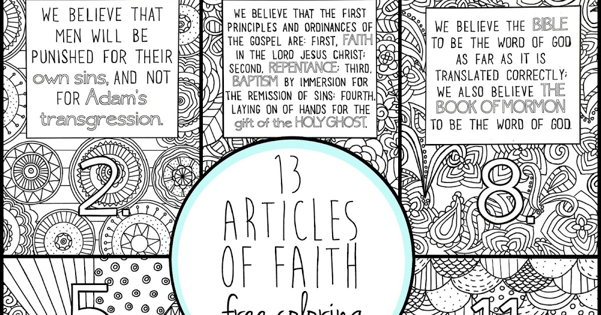 graphic relating to 13 Articles of Faith Printable identify 13 Written content of Religion Coloring Webpages