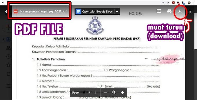 [TERKINI 2021] SOP, Borang Kebenaran Rentas Negeri/ Daerah PKP PKPB (PDF, JPEG)
