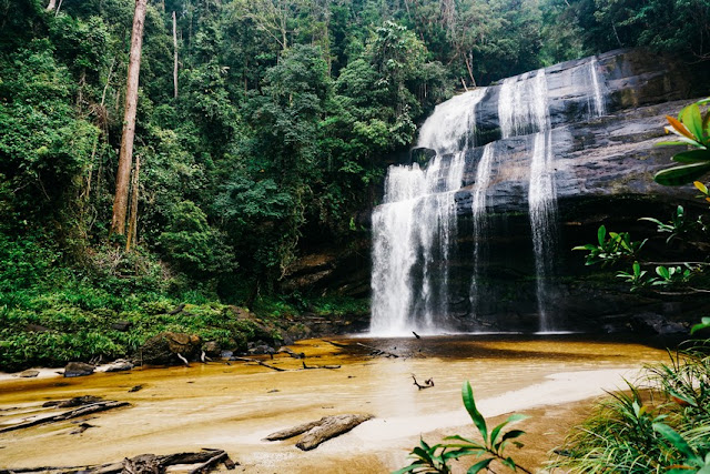 Riam Dait, Beautiful Waterfall 7 Levels in the North End of West Kalimantan