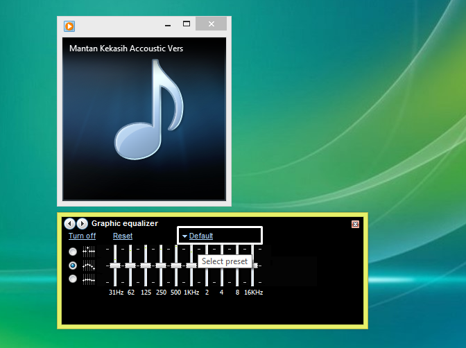 Menampilkan Graphic Equalizer Windows Media Player 3