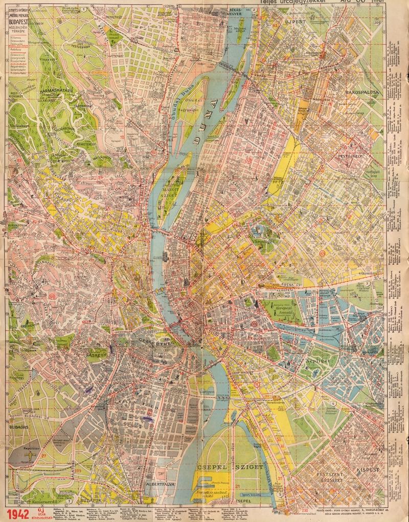 budapest térkép 1980 Old Budapest/Budapest régen: Budapest 1942 Map budapest térkép 1980