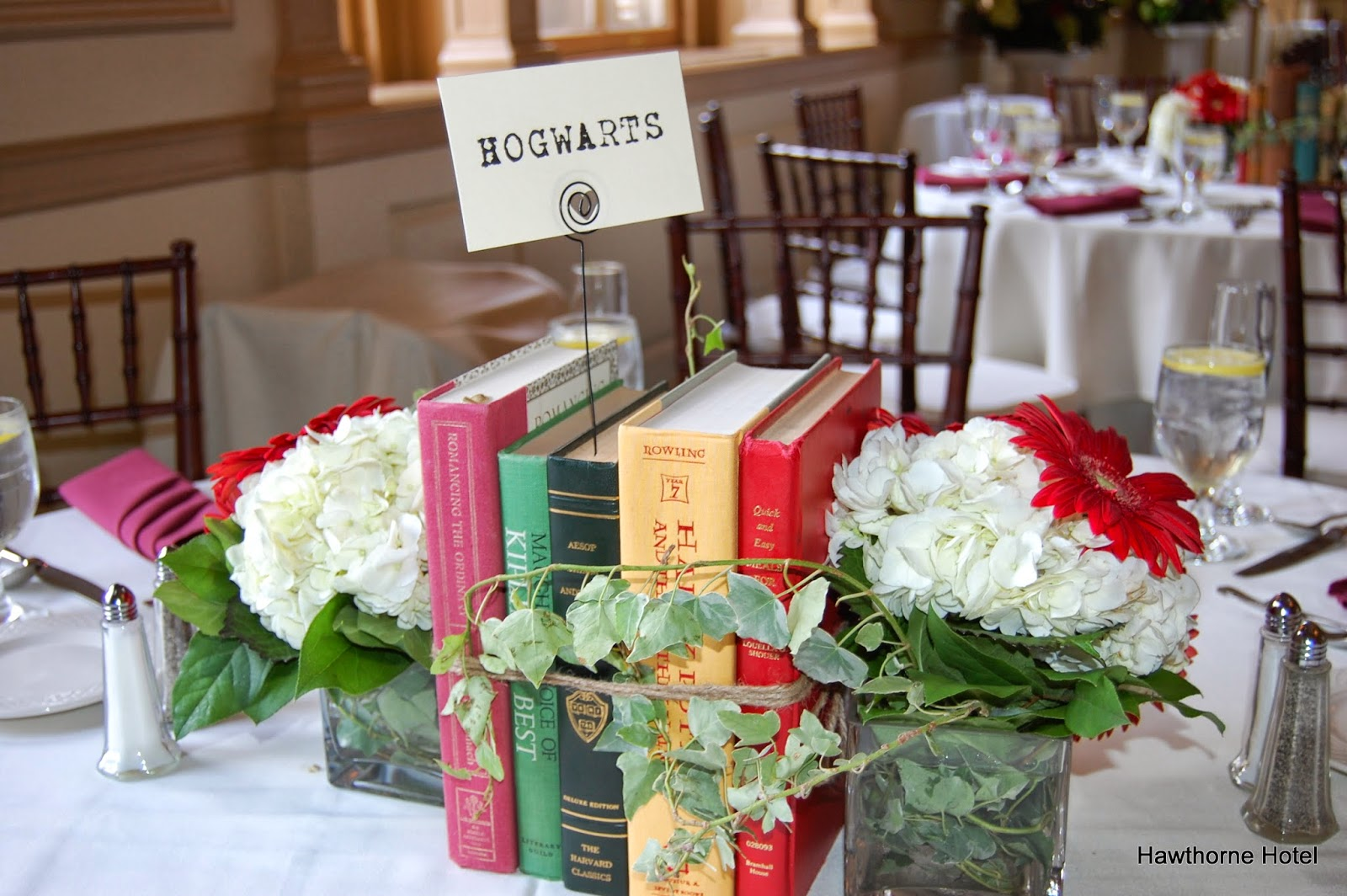 Weddings At The Hawthorne Hotel: Literary/Book-Themed Wedding