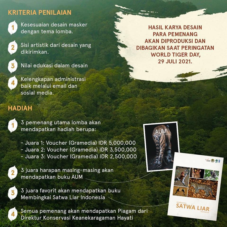 Lomba Desain Masker Berhadiah Uang Tunai Puluhan Juta Rupiah oleh Kementerian LHK