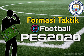 Formasi Taktik Manchester City di PES 2020