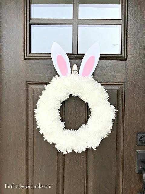 Easter bunny DIY wreath
