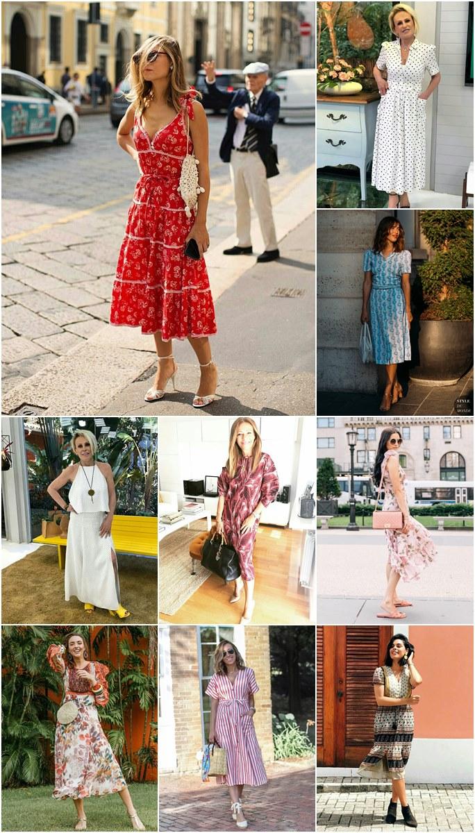 Looks de verão com vestido midi