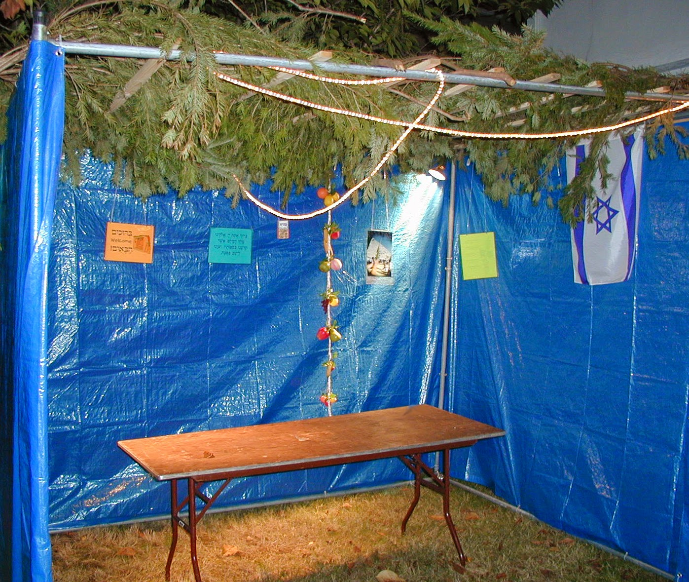 Sukkah for Jewish Holiday of Sukkot