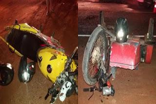 Acidente envolvendo motocicletas na BA-148