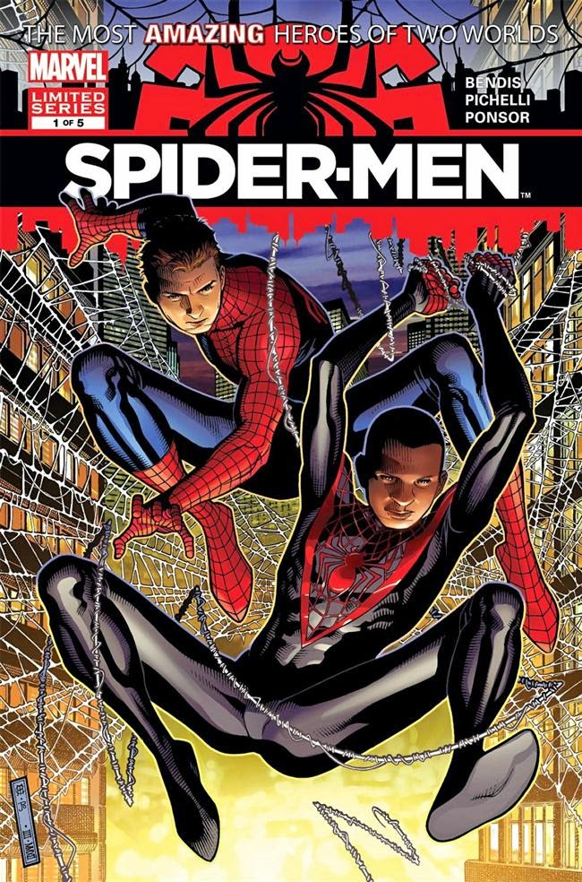 spiderman heroes of two worlds comic neon