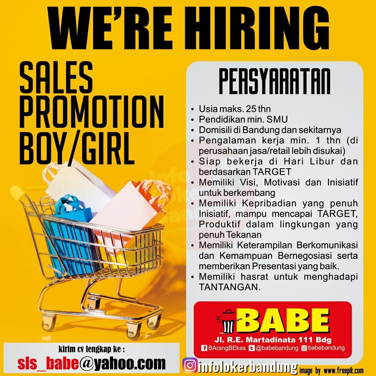 Lowongan Kerja SPB & SPB Babe ( Barang Bekas) Bandung Mei 2019