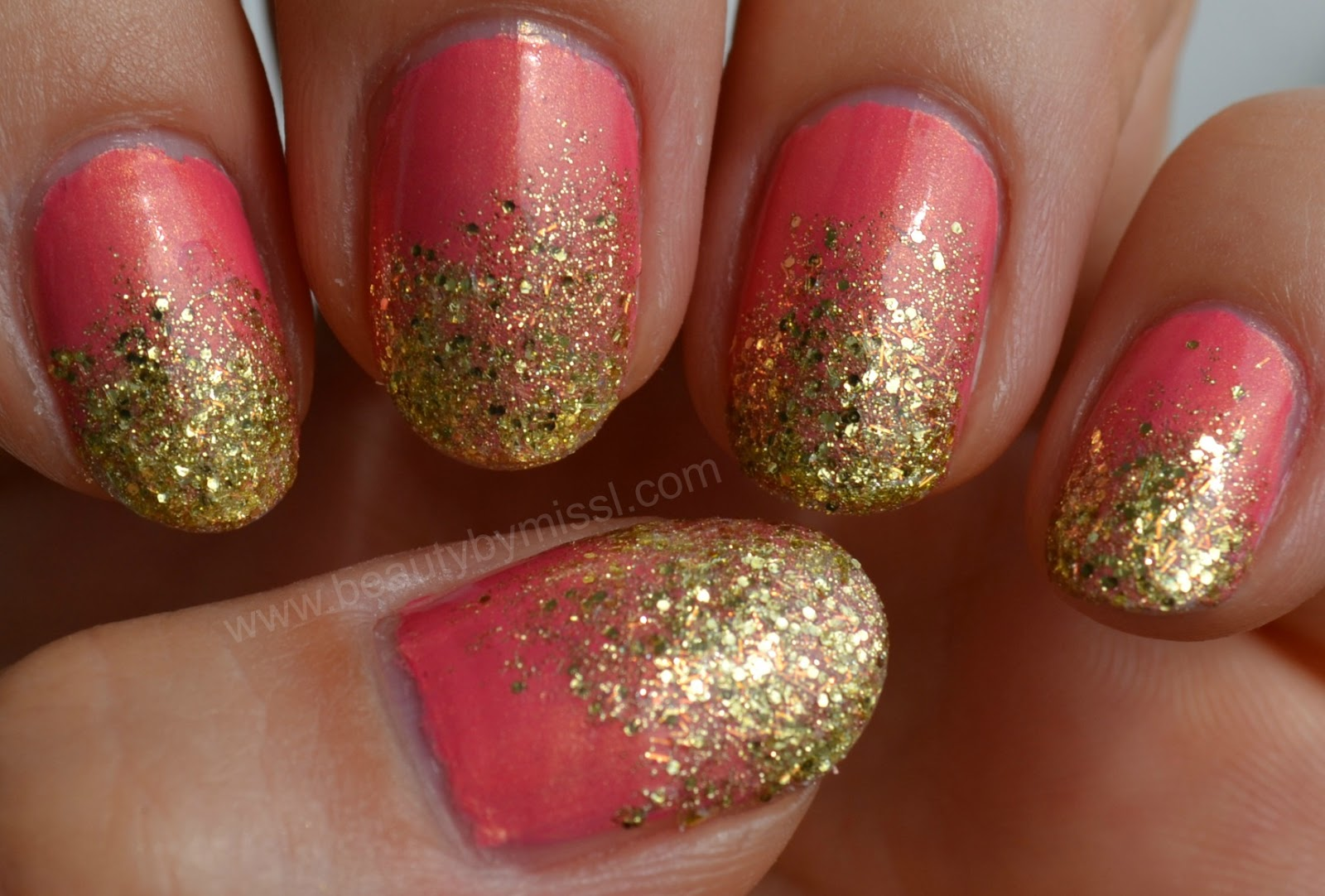 pink gold bling