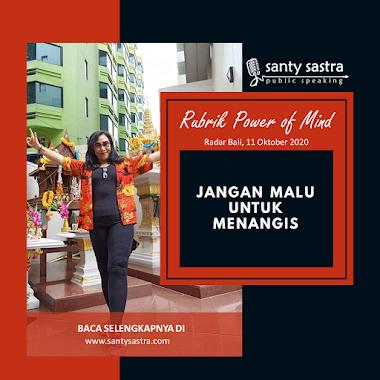 Rubrik Power Of Mind Radar Bali : Jangan Malu Untuk Menangis