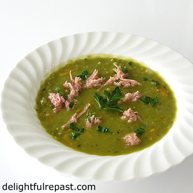 Split Pea Soup with Ham - Instant Pot or Not (stovetop and slow cooker directions included as well) / www.delightfulrepast.com