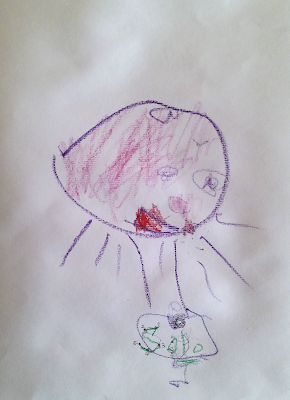 參與 KIDS ART 的寒寒和爸比都很喜歡這幅畫