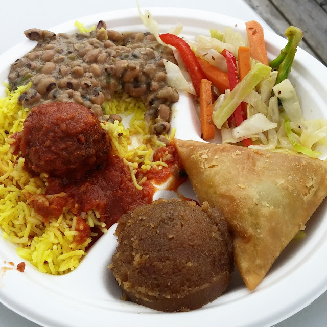Combo plate from Govinda's at the Toronto Vegetarian Food Festival