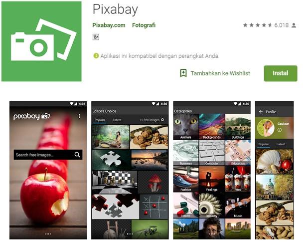 Aplikasi Pixabay Untuk Ngeblog