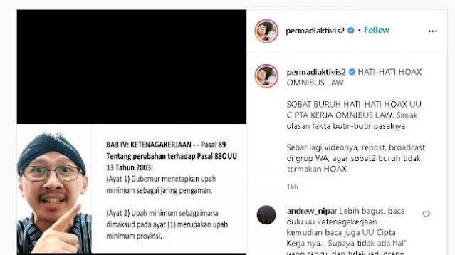 Said Aqil Serukan Warna NU Tolak UU Cipta Kerja, Abu Janda Malah Sebut Penolak UU Ciptaker Termakan Hoaks