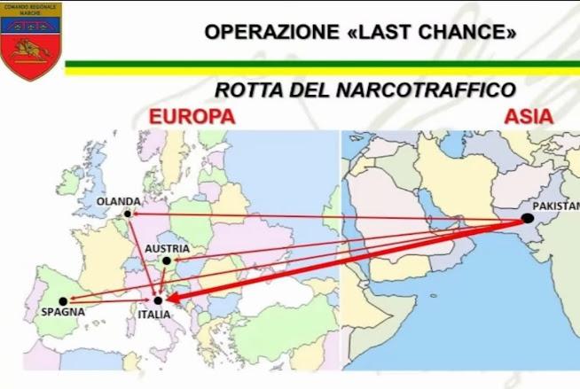 """Operazione """"Last Chance"""": duro colpo al traffico internazionale di stupefacenti, eroina in imbottiture valigie"""