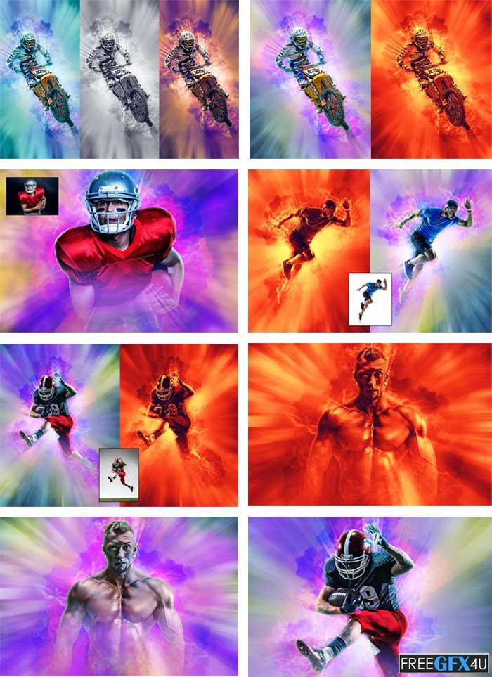 Radial Explosion Photoshop FX