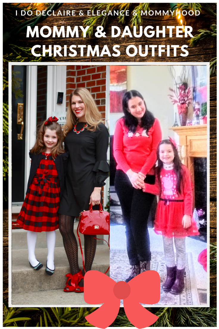 holiday home tour, mommy and me christmas outfit