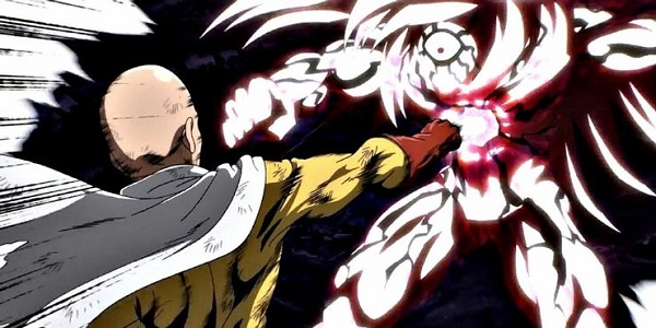 One Punch Man knocking out an opponent with a single blow