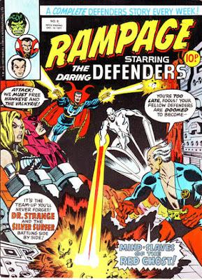 Rampage #9, Defenders vs  the Red Ghost