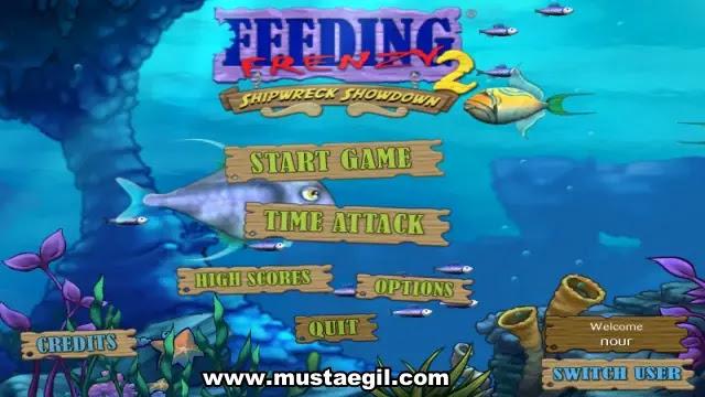 لعبة السمكة feeding frenzy