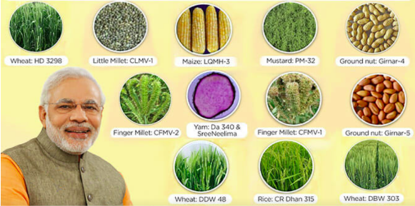 35 new varieties of crops launched by PM Modi