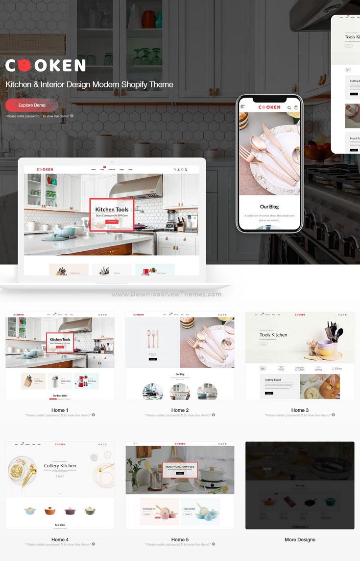 Best Kitchen and Interior Design Modern Shopify Theme