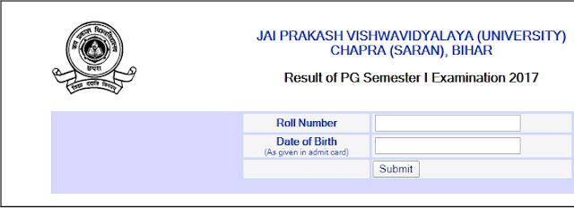 JPU PG Odd Sem Result 2020