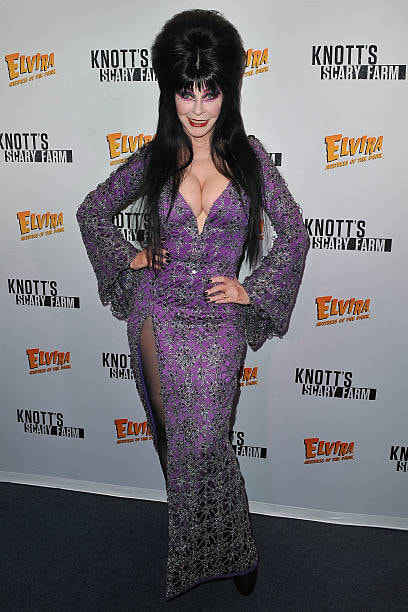 Special 200th Elvira post at Moongem Comics shows her wearing purple gown