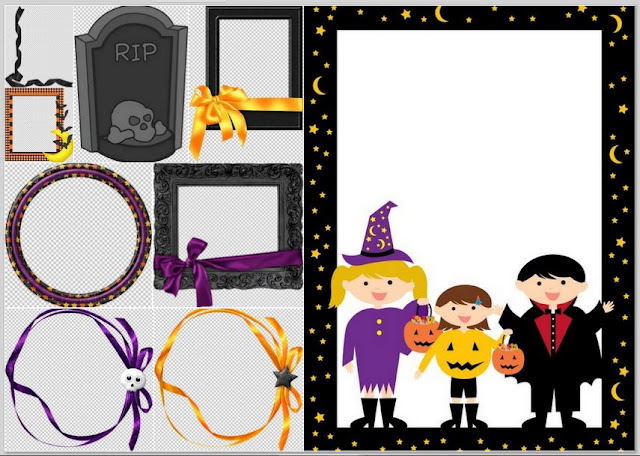 Halloween Free Printable Frames and Borders.