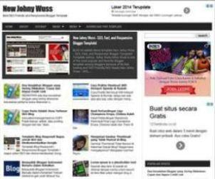New Johny Wuss - SEO Fast Responsive Blogger Template