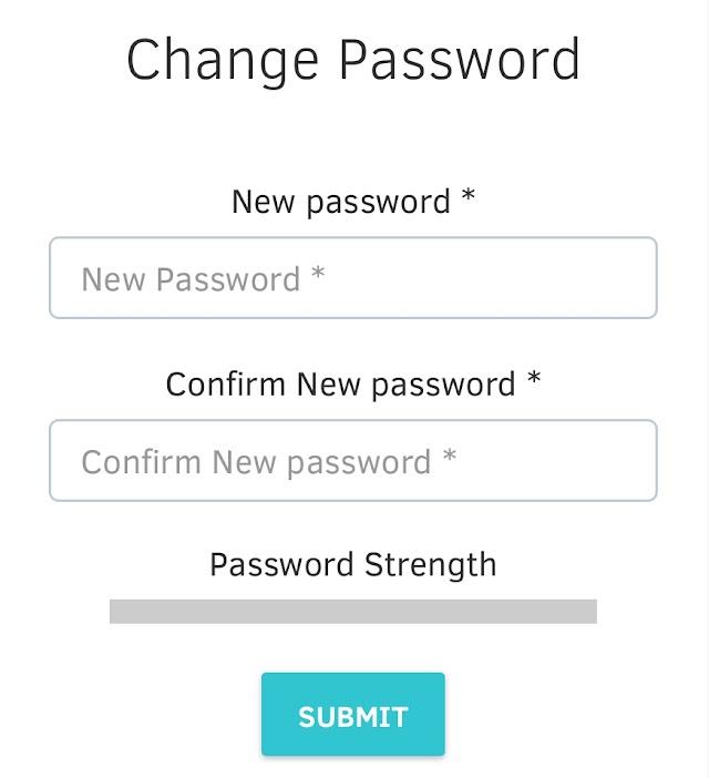 EMIS - Password Reset Option Link