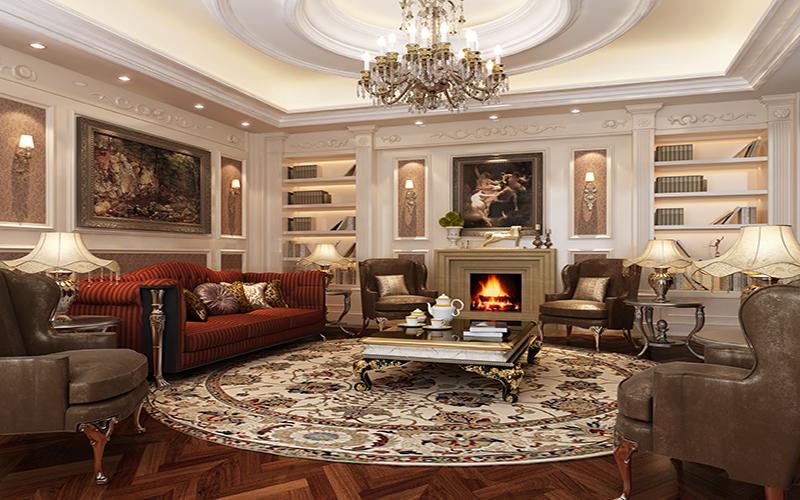 Phòng khách cổ điển biểu tượng của sự sang trọng và đẳng cấp 7