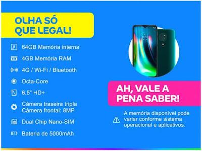 Smartphone Motorola Moto G9 Play (Canal da Lu - Magalu) Foto 2