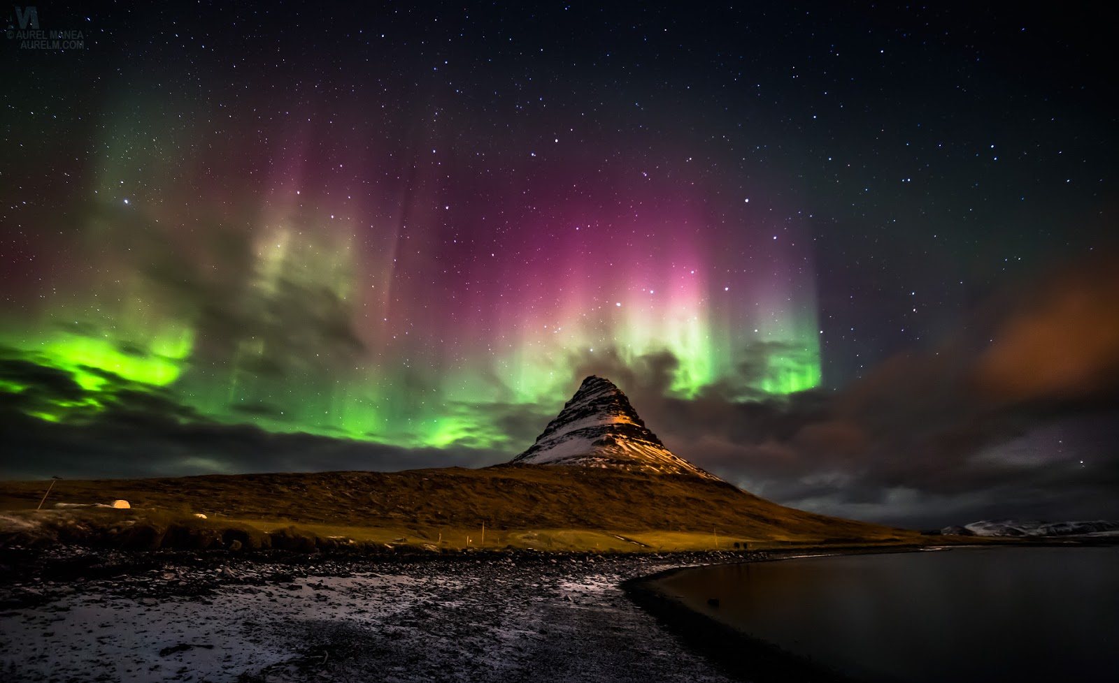 Northern Lights, Iceland HD Background