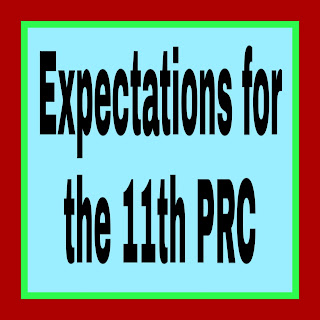 Expectations for the 11th PRC