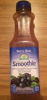 A bottle of Nature's Nectar Berry Blue Smoothie, from Aldi