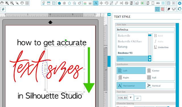 Silhouette Studio, font size silhouette studio, font size, wrong font size, wrong text size